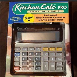 Kitchen Calc Pro Master Chef's Edition NIB